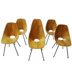 "Set of Six ""Medea"" Chairs by Vittorio Nobili for Fratelli Tagliabue"