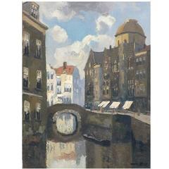 'Bruges Canal' Painting by Chris Soer