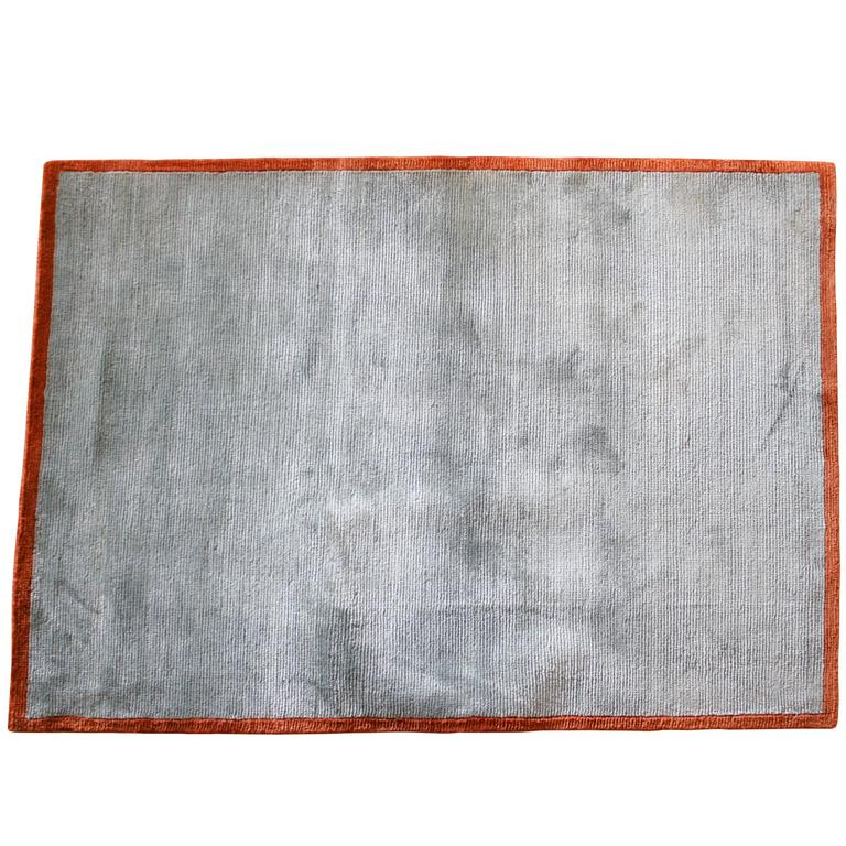 Hand-Knotted Powder Room Rug