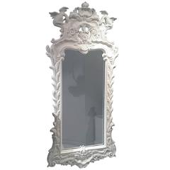 Georgian Style Mirror Made of Carved and Painted Wood