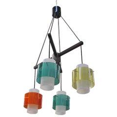 Chandelier, Design Stilux Milan, 1958