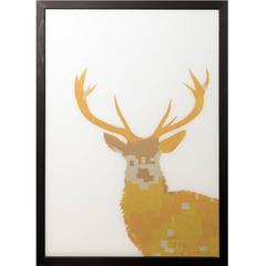 Stag Goldleaf on Glass