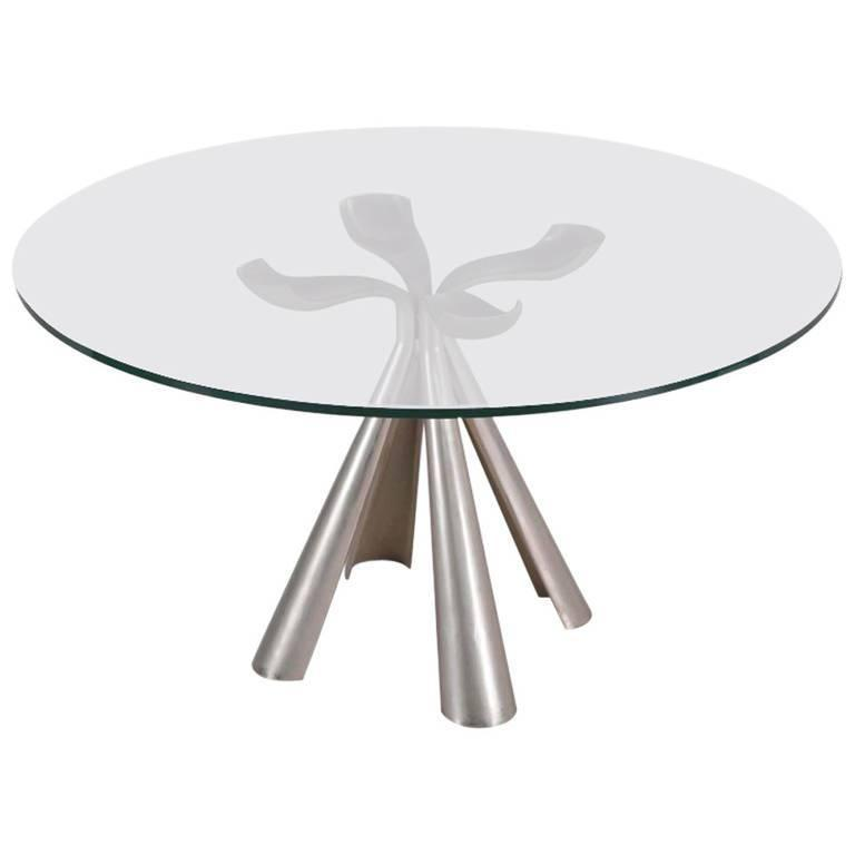 Italian Center or Dinning Table Designed by Introini for Saporiti, 1970s