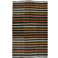 Vintage Turkish Kilim Flat-Weave Rug