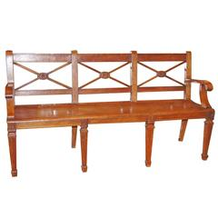 Neoclassic Style Bench
