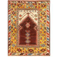 Antique Turkish Bergamo Rug