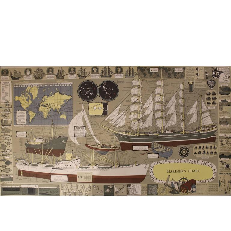 Mariner's Chart Poster For Sale