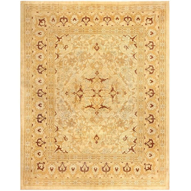 British India Rug: Antique Indian Amritsar Rug For Sale At 1stdibs
