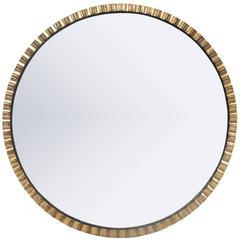 1940s Gilt Circle Mirror