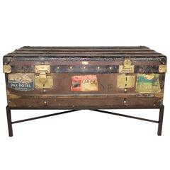 19th Century Au Depart French Trunk Coffee Table