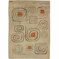 Vintage Deco Rug Signed by Olga Fisch