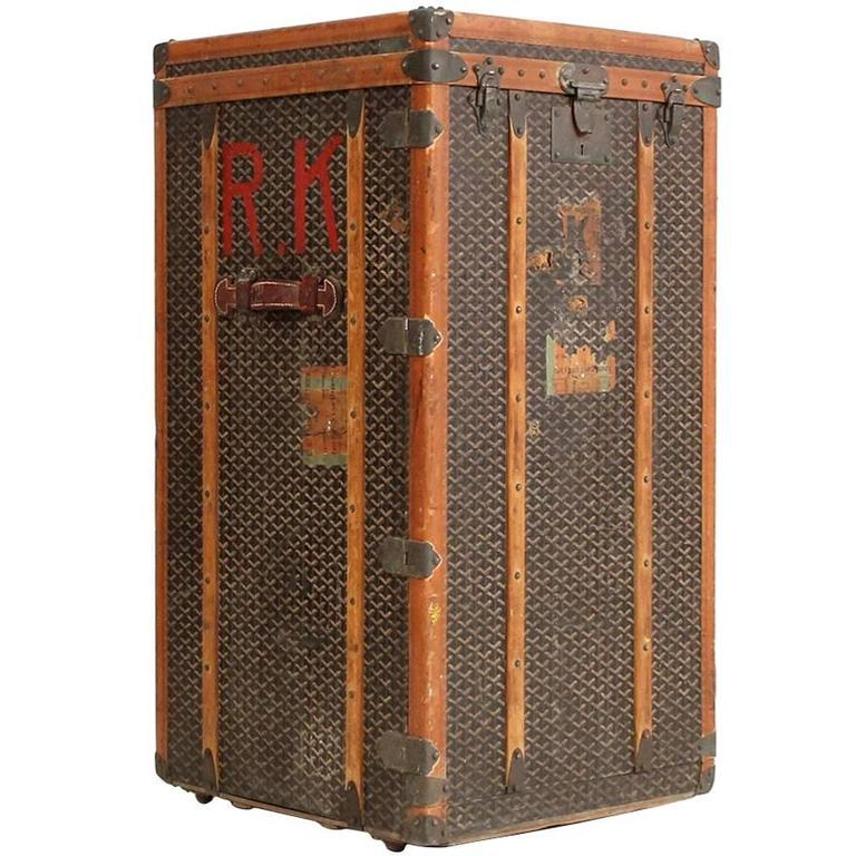 Rare Standing Chest Trunk By Goyard At 1stdibs