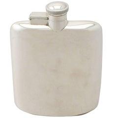 Sterling Silver Hip Flask, Vintage George VI