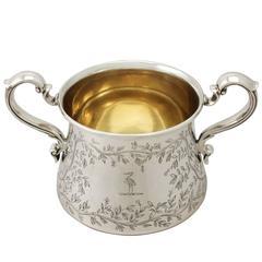 Sterling Silver Sugar Bowl, Antique George VI