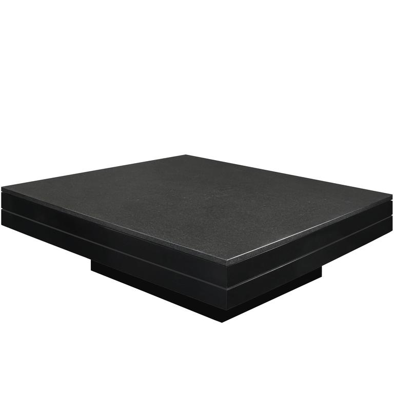 Square Coffee Table With Thick Black Granite Top By Juan Montoya For Sale At 1stdibs