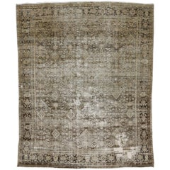 Distressed Antique Persian Mahal with Modern Artisan and Industrial Urban Style