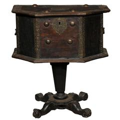 19th-20th Century Spanish Coffer on Pedestal