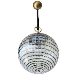 Swirled Murano Globe Pendant