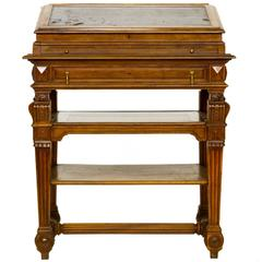 French Renaissance Walnut Stand Up Writing Desk