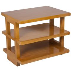Bleached Mahogany Three-Tier End Table by Wormley for Dunbar