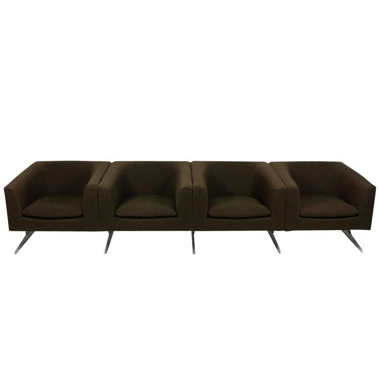 1960s Sofa Mod. 630 by Geoffrey Harcourt for Artifort Modular Seating Metal Base