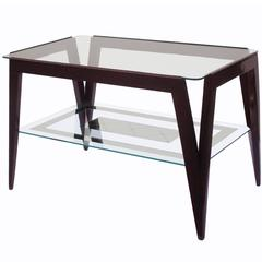 Fine Modernist Two-Tier End Table