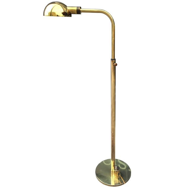 Wall Lamp Height From Floor : Height Adjustable Floor Lamp by Charles Hollis Jones at 1stdibs