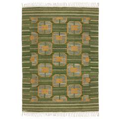 Scandinavian Modern Wool Flat-Weave Rug from Nordiska Kompaniet