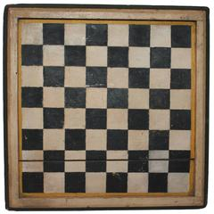 19th Century Original Painted Game Board from New England