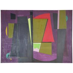 1949 André Gandon Abstract Oil on Canvas