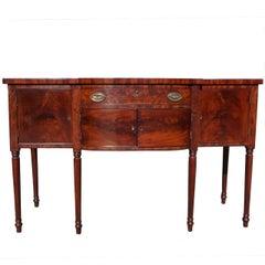 American Mahogany Bow Front Sideboard . Circa 1815
