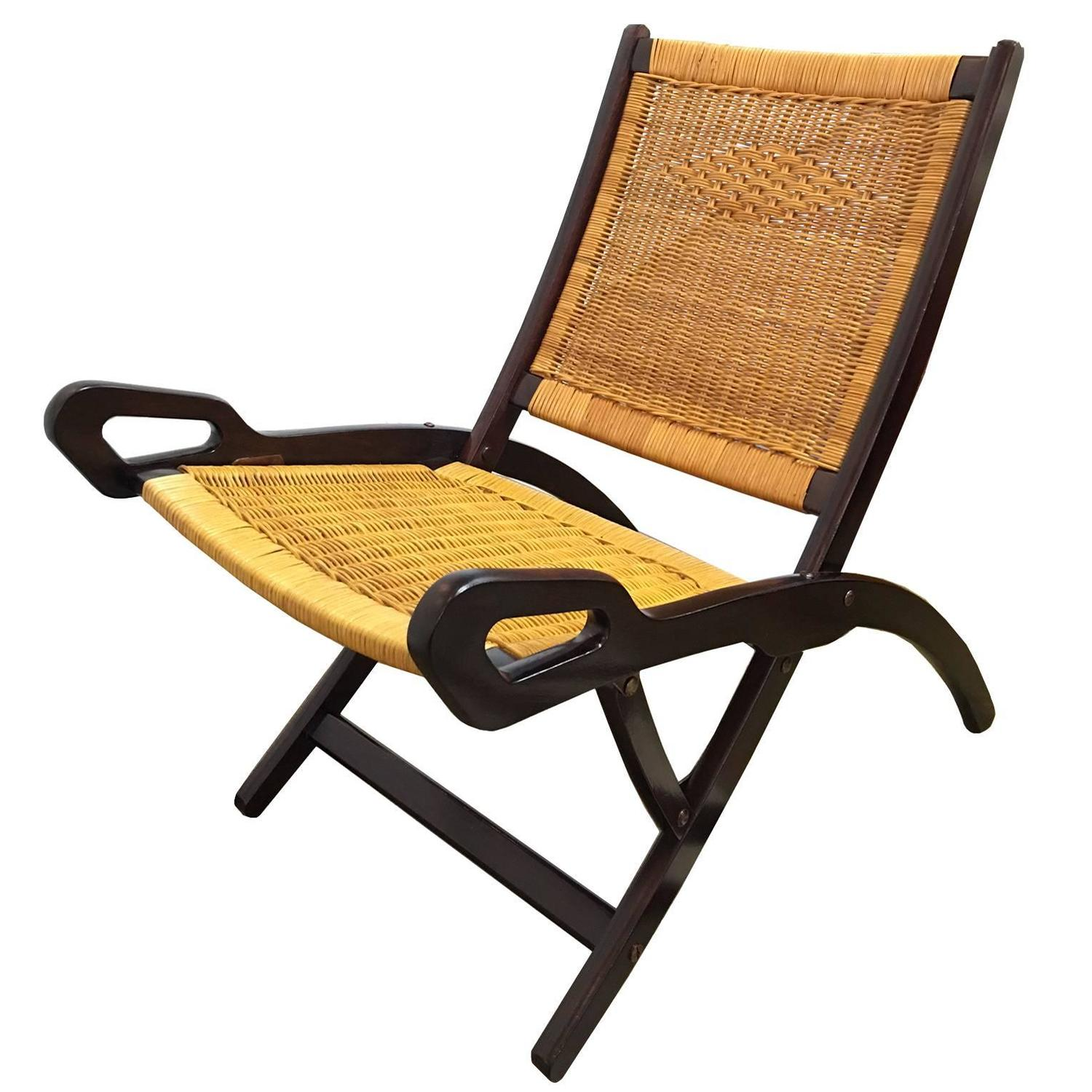 Gio Ponti for Brevetti Reguitti Ninfea folding chair at 1stdibs
