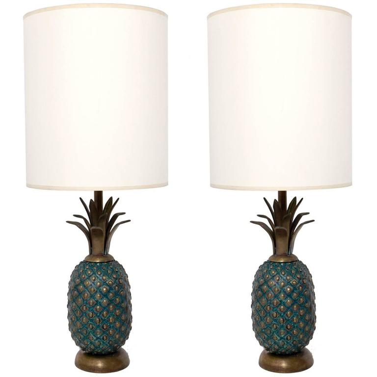 gold pineapple and at table x lamp for lamps furniture sale white f lighting id