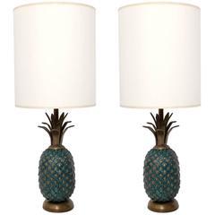 Bronze Pineapple Lamps by Pepe Mendoza
