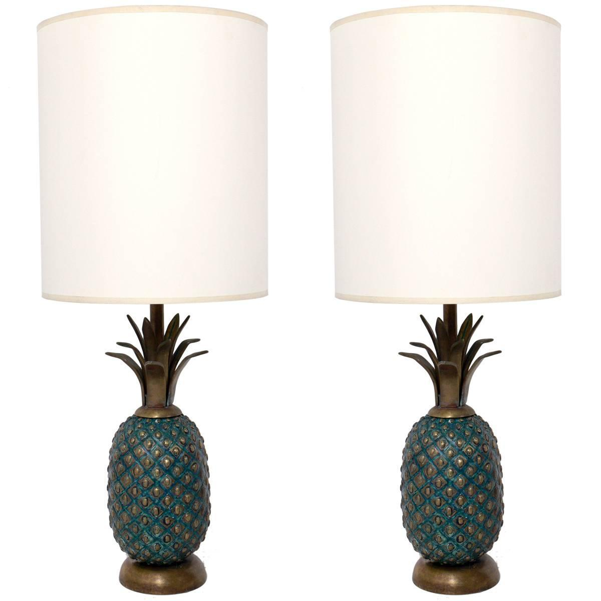 Bronze Pineapple Lamps By Pepe Mendoza At 1stdibs