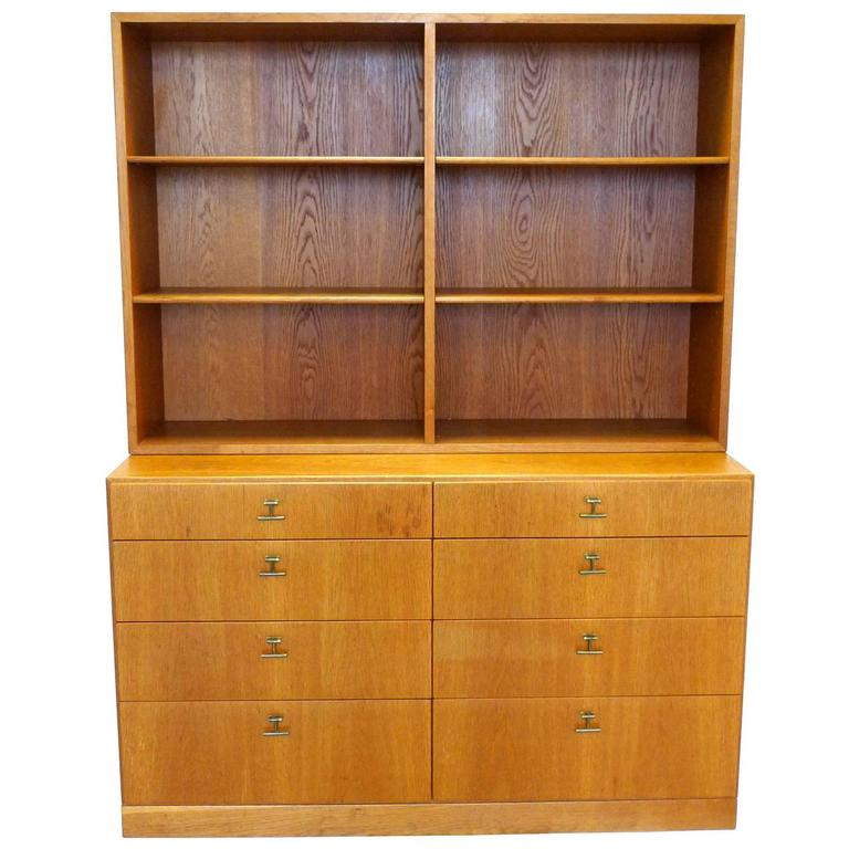 Midcentury Borge Mogensen Bookcase And Chest Of Drawers At