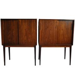 Pair of Danish Cabinets in Brazilian Rosewood