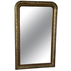 19th Century Louis Phillipe Silvered Mirror