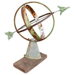 European Armillary Sundial on Zodiac Stand