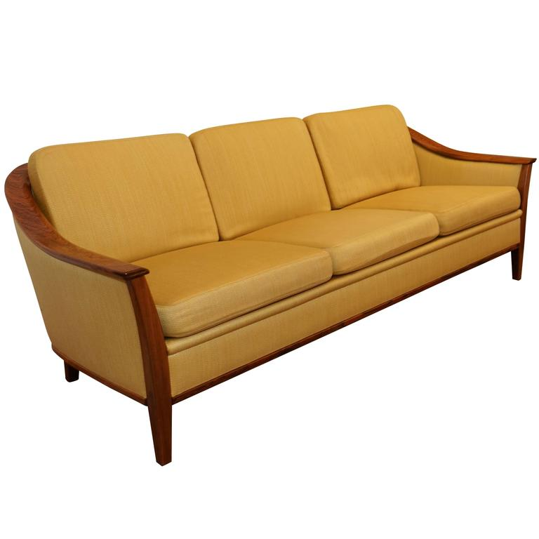 Mid century modern sofa and armchairs set for sale at 1stdibs for Mid century modern sofa for sale