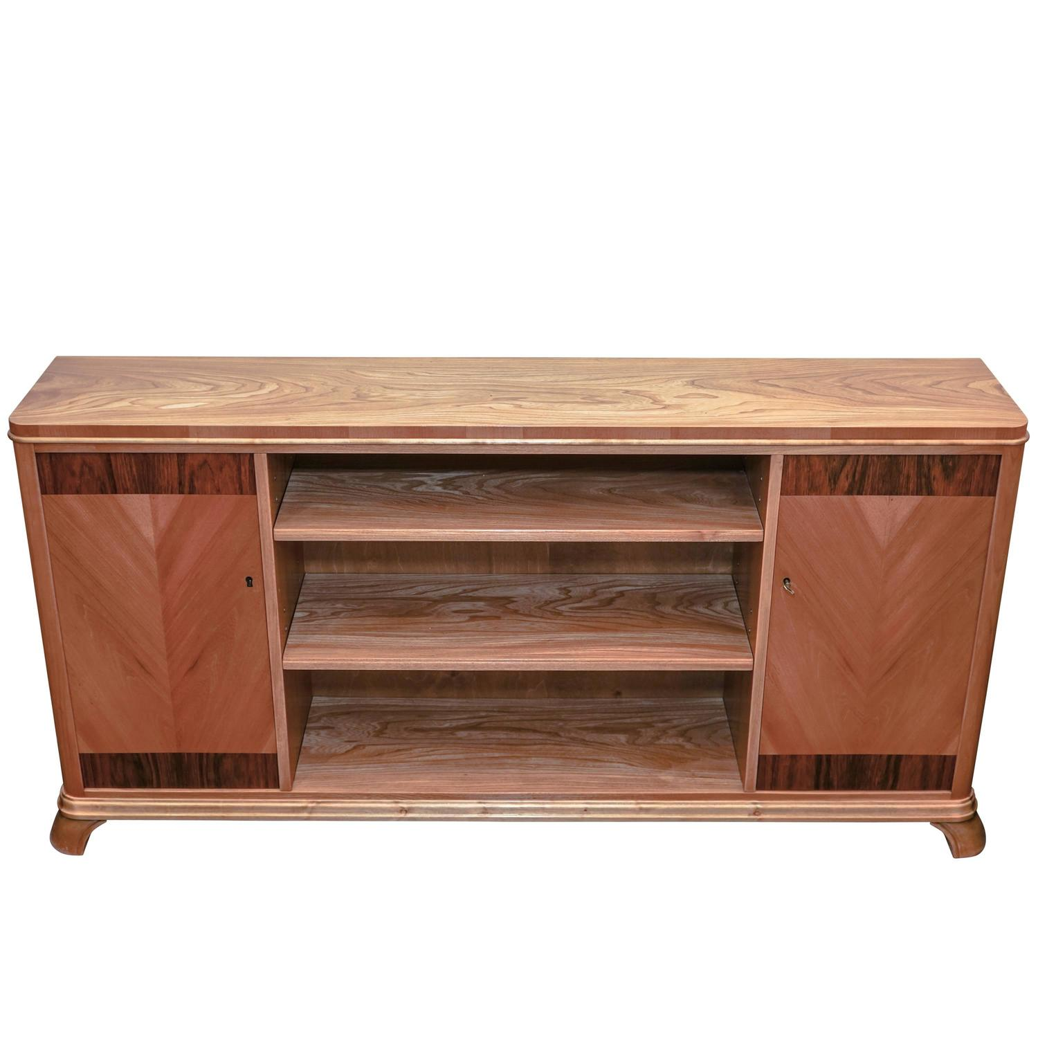 art deco console bookcase at 1stdibs. Black Bedroom Furniture Sets. Home Design Ideas