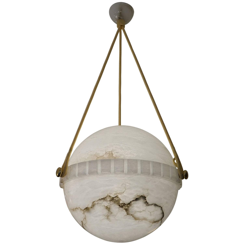 Swedish alabaster globe light fixture at 1stdibs for Swedish light fixtures