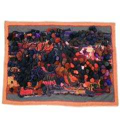 Art Work Tapestry Signed M.J Guevel, France, 1970