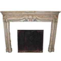 Antique Gassino's Marble Fireplace Mantel