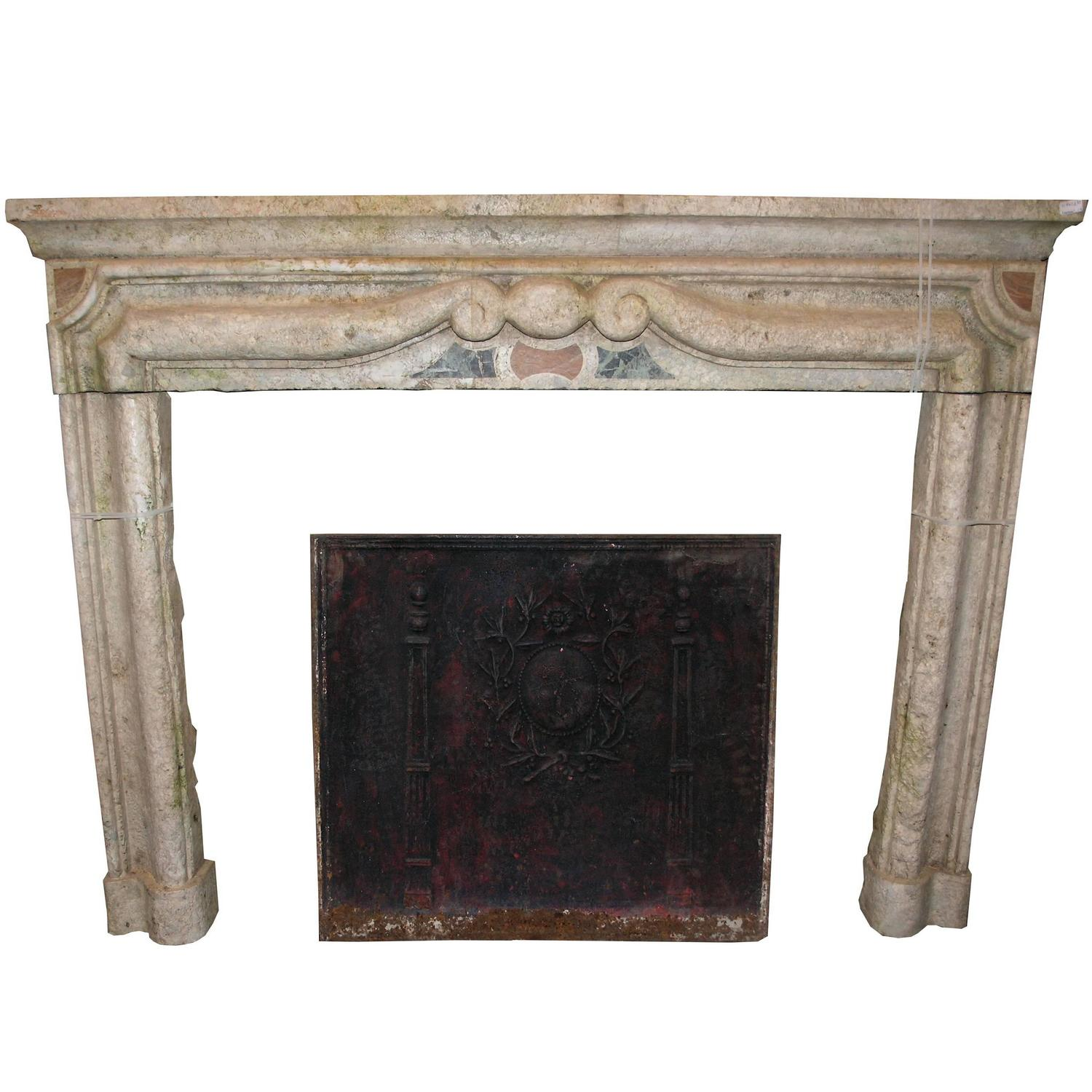 Antique gassino 39 s marble fireplace mantel for sale at 1stdibs for Marble mantels for sale