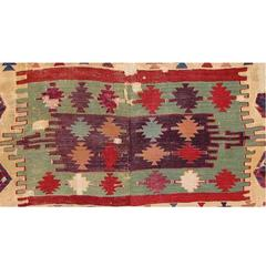Antique Kilim Fragment Mounted from Central Anatolia, 18th Century