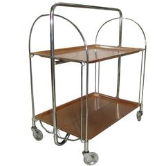 "Collapsible ""Gerlinol"" Tea or Bar Trolley Cart"
