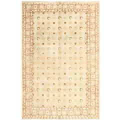 Light Blue Antique Persian Tabriz Rug