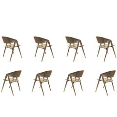 Jacques Adnet Eight Armchairs