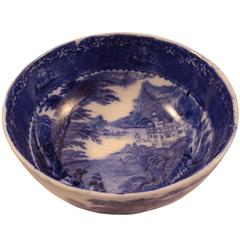 Blue and White Royal Staffordshire Serving Bowl
